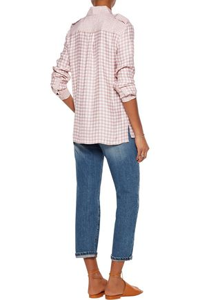EQUIPMENT Alma gingham washed-silk shirt