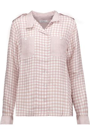 EQUIPMENT FEMME Alma gingham washed-silk shirt
