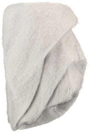 RICK OWENS Strapless asymmetric mohair and wool-blend top
