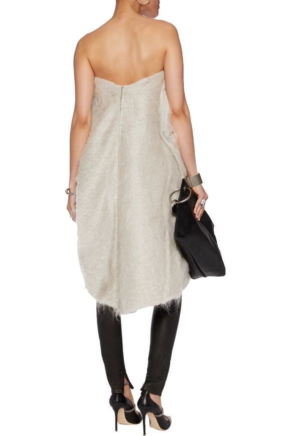 Strapless asymmetric mohair and wool-blend top | RICK OWENS | Sale up to  70% off | THE OUTNET