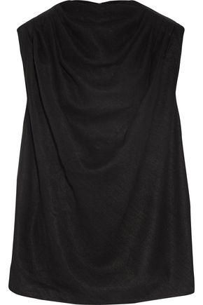 RICK OWENS Draped silk and wool-blend top
