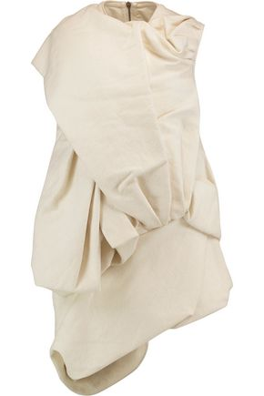 RICK OWENS Draped shell and wool-blend top