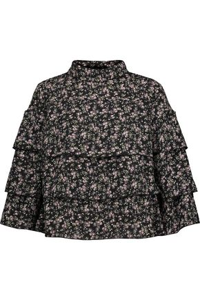 W118 by WALTER BAKER Marci floral-print tiered crepe blouse