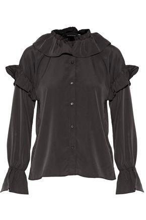 W118 by WALTER BAKER Mistie ruffle-trimmed crepe de chine blouse