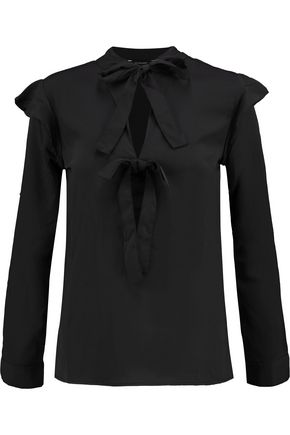 W118 by WALTER BAKER Rhonda pussy-bow textured-crepe blouse