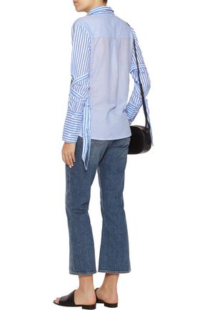 W118 by WALTER BAKER Joanne paneled striped cotton-poplin shirt