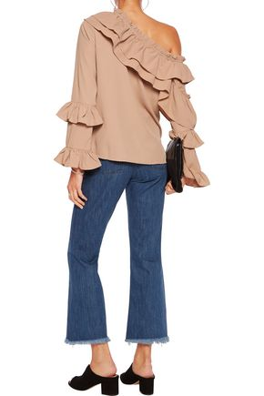 W118 by WALTER BAKER Irina ruffled crepe blouse