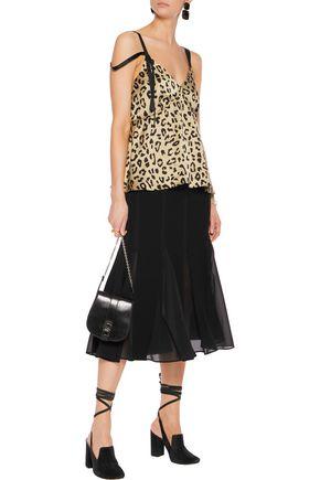 CINQ À SEPT Sacha leopard-print silk camisole