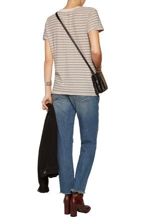 CURRENT/ELLIOTT Striped cotton T-shirt