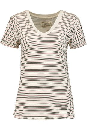 CURRENT/ELLIOTT Striped cotton T-shirt