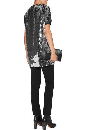 CARVEN Sequinned cotton-jersey top