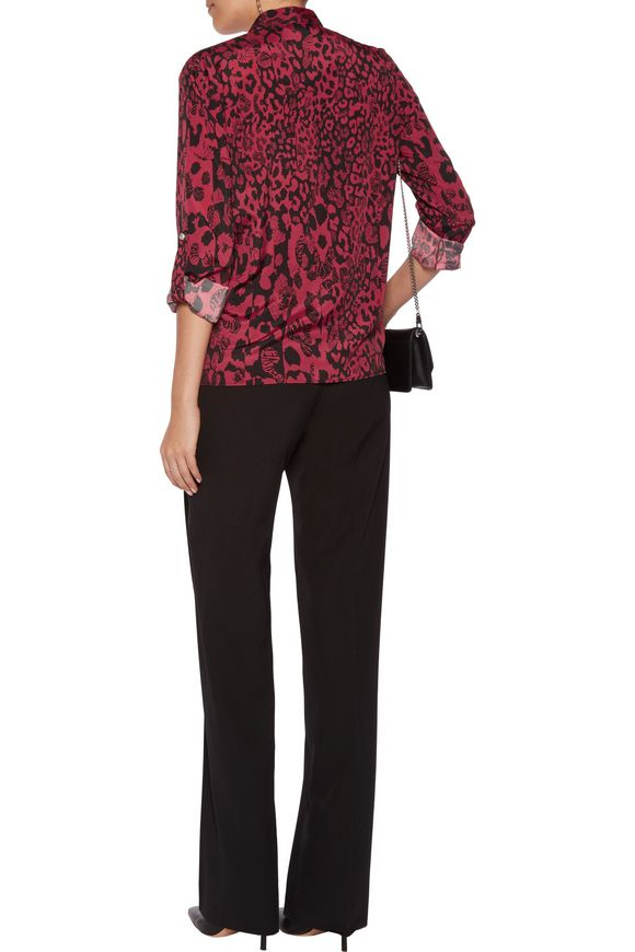 Printed georgette shirt | VERSUS VERSACE | Sale up to 70% off | THE OUTNET