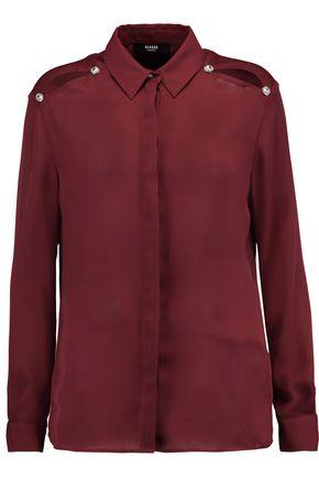 VERSUS VERSACE Embellished chiffon shirt