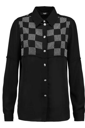 VERSUS VERSACE Stud-embellished chiffon blouse