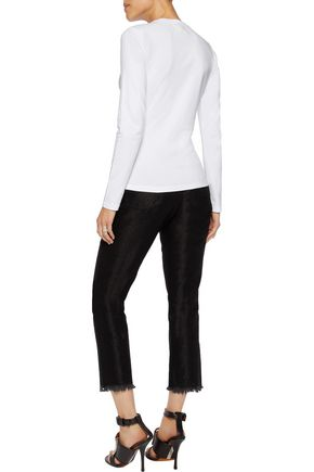 VERSUS Studded stretch-cotton jersey top