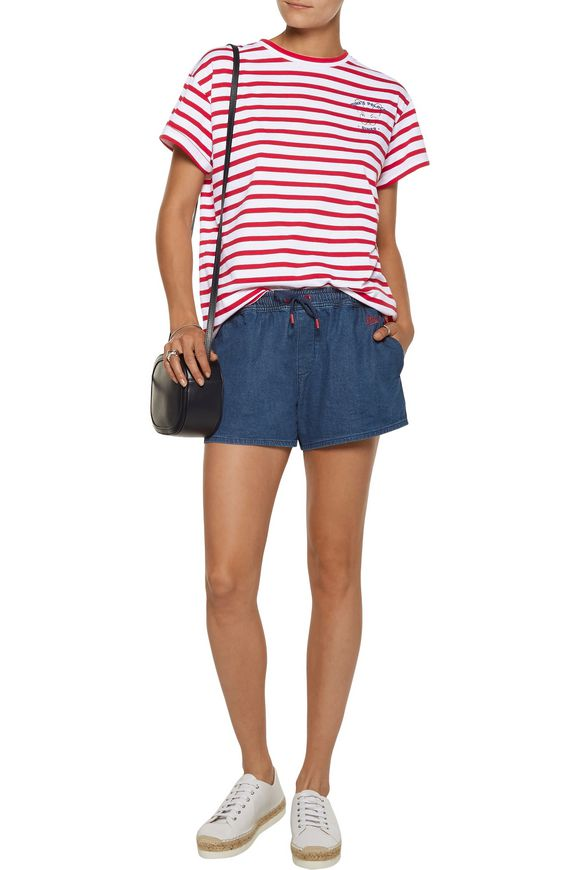 Running cotton-chambray shorts | ÊTRE CÉCILE | Sale up to 70% off | THE  OUTNET