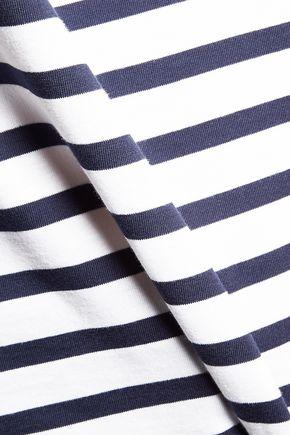 ÊTRE CÉCILE La Vie Los Angeles flocked striped cotton-jersey T-shirt