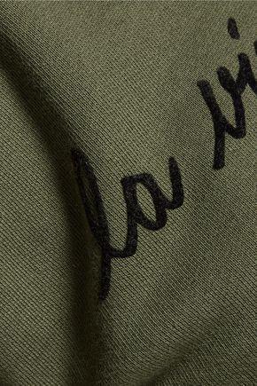 ÊTRE CÉCILE La Vie Los Angeles flocked cotton-fleece sweatshirt