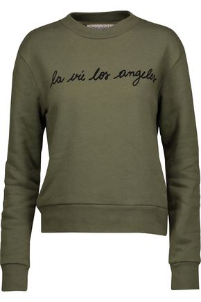 ÊTRE CÉCILE La Vie Los Angeles flocked cotton-fleece sweatshirt