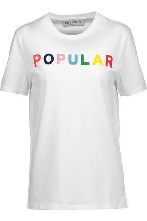 ÊTRE CÉCILE Popular flocked cotton-jersey T-shirt