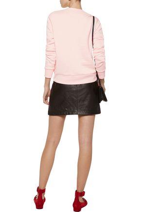 ÊTRE CÉCILE Pink's Palace Diner metallic printed cotton-fleece sweatshirt