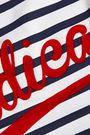 ÊTRE CÉCILE Radical flocked striped cotton-jersey tank