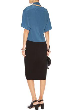 MAISON MARGIELA Silk-crepe blouse