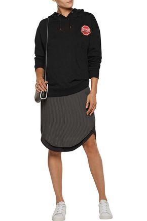 ÊTRE CÉCILE U Turn Me On printed cotton-fleece hooded sweatshirt