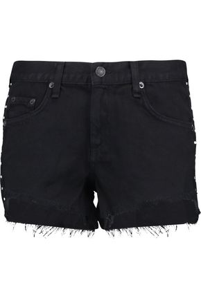 RAG & BONE Embellished denim shorts