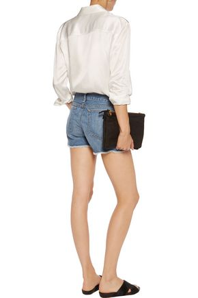 RAG & BONE Boyfriend frayed denim shorts