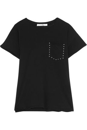 RAG & BONE/JEAN Vintage Crew stud-embellished stretch-cotton T-shirt