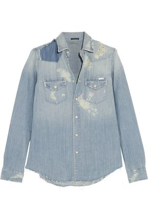 MOTHER All My Ex's distressed denim shirt