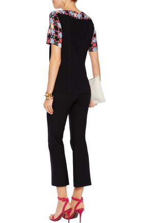 EMILIO PUCCI Printed silk-blend top