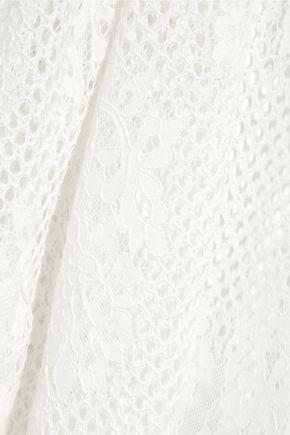 MELISSA ODABASH Audrey cotton-blend corded lace coverup