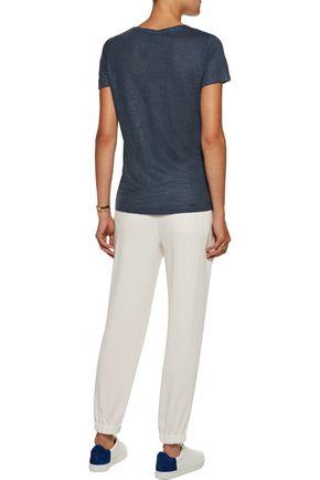 MAJESTIC Metallic linen and silk-blend jersey T-shirt