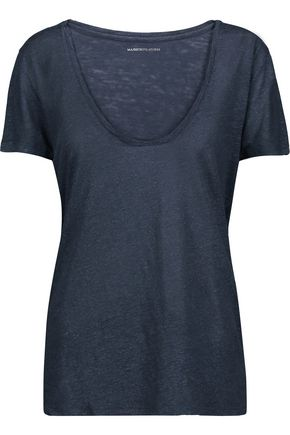 MAJESTIC Metallic linen and silk-blend jersey T-shirt
