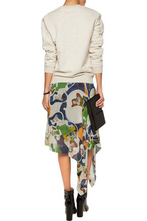MARC BY MARC JACOBS Twill-paneled printed cotton-jersey sweatshirt