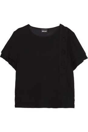 JUST CAVALLI Layered crepe top