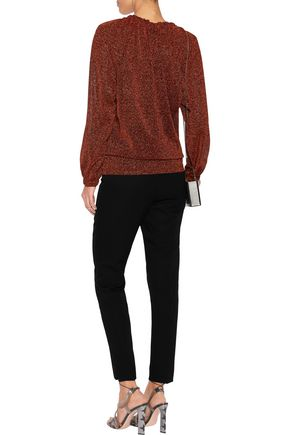 JUST CAVALLI Metallic knitted tunic