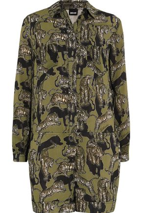 JUST CAVALLI Printed voile playsuit