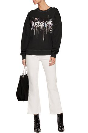 JUST CAVALLI Printed cotton sweatshirt