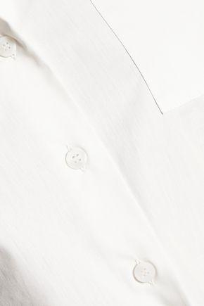 MM6 by MAISON MARGIELA Tie-detailed cotton shirt