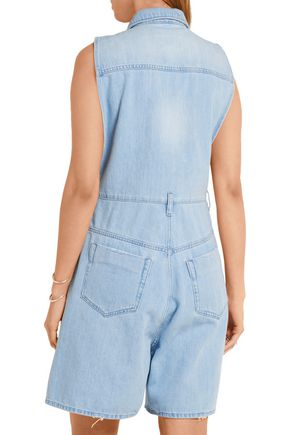 MM6 by MAISON MARGIELA Frayed denim playsuit