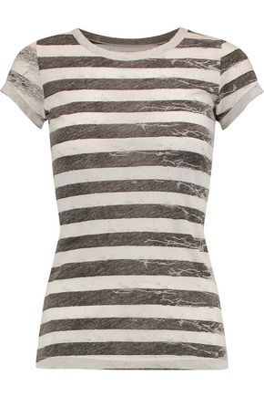 MM6 by MAISON MARGIELA Striped cotton-jersey T-shirt