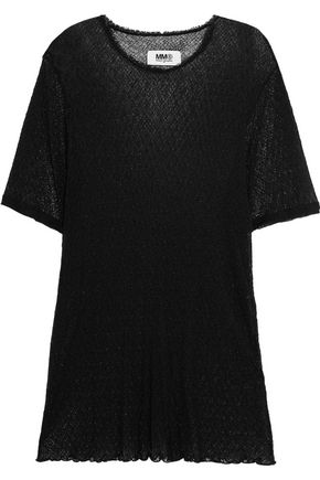 MM6 by MAISON MARGIELA Stretch-mesh top