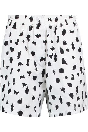 MM6 MAISON MARGIELA Printed cotton shorts