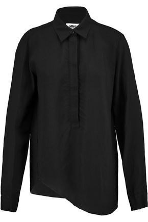 MM6 MAISON MARGIELA Asymmetric broadcloth shirt