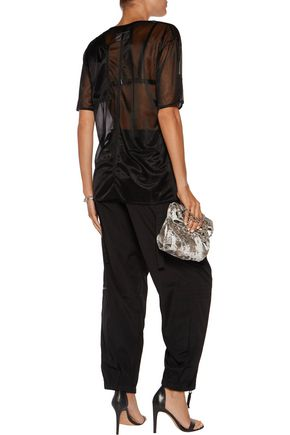MM6 by MAISON MARGIELA Coated-chiffon top
