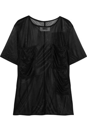 MM6 MAISON MARGIELA Coated-chiffon top