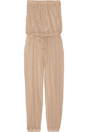MELISSA ODABASH Stella crochet-knit jumpsuit